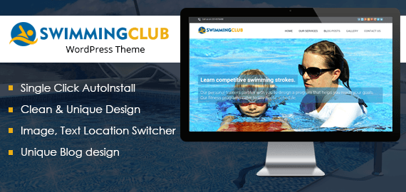 SWIMMING CLUB WORDPRESS THEME