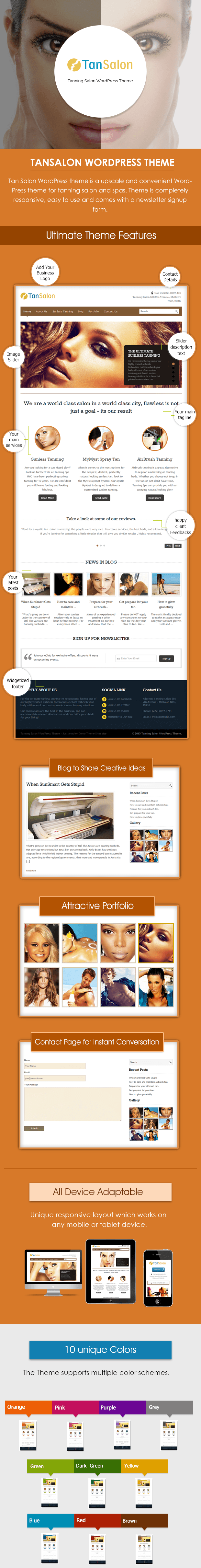 WordPress Theme for Tanning Salon