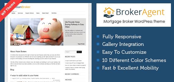 ASIAN BROKER - THE MORTGAGE BROKER WORDPRESS THEME
