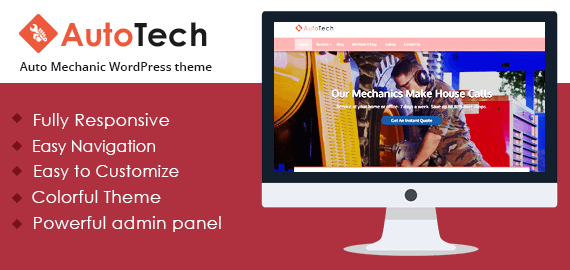AUTO TECH - THE AUTO MECHANIC WORDPRESS THEME
