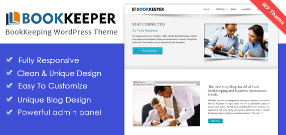 BOOKKEEPER - THE BOOKKEEPING WORDPRESS THEME