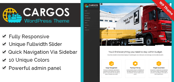 CARGOS - THE CARGO COMPANY WORDPRESS THEME