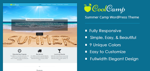 COOLCAMP - SUMMER CAMP WORDPRESS THEME