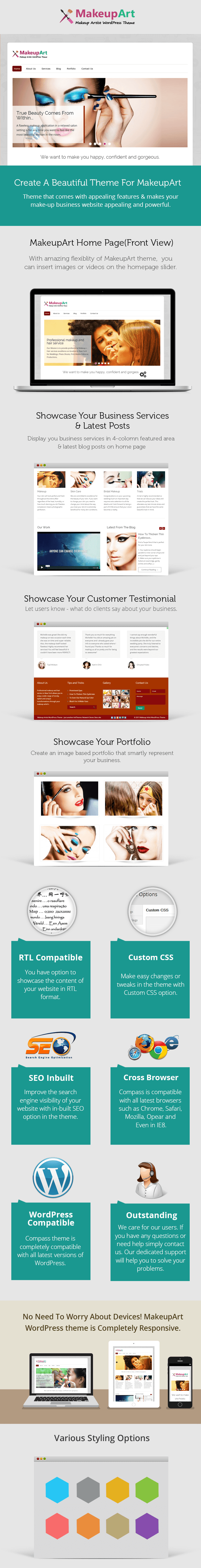 Wordpress themw for nail salons