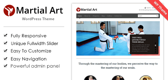 MARTIAL ART WORDPRESS THEME