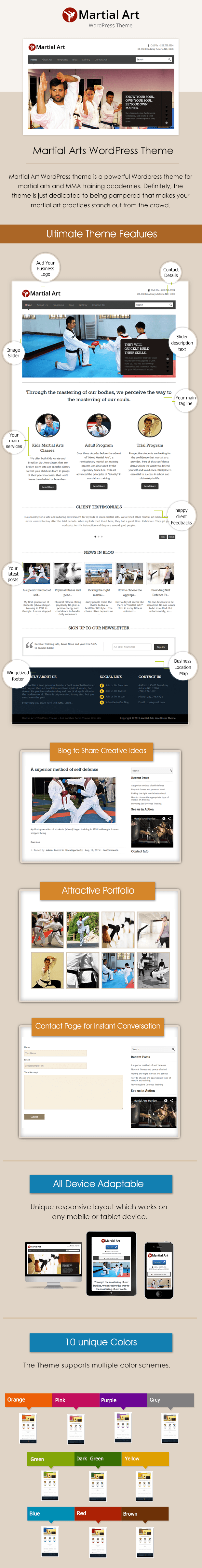 WordPress Theme for Martial Art