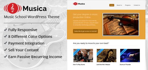 Musica WordPress Theme