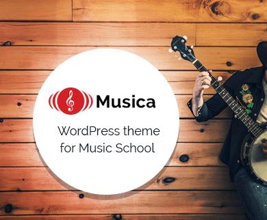 Musica - The Music School WordPress Theme