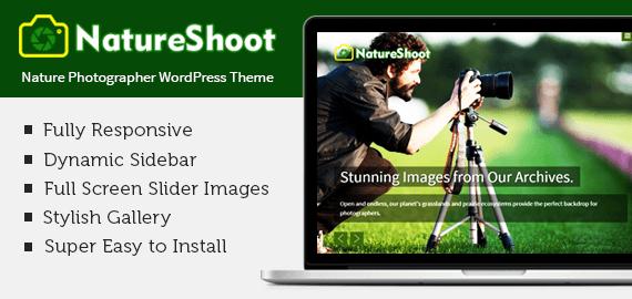 NatureShoot WordPress Theme