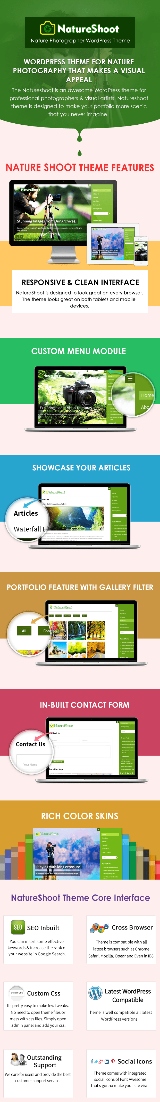WordPress Theme for nature photography