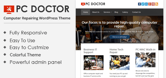 PC DOCTOR - COMPUTER REPAIRING WORDPRESS THEME