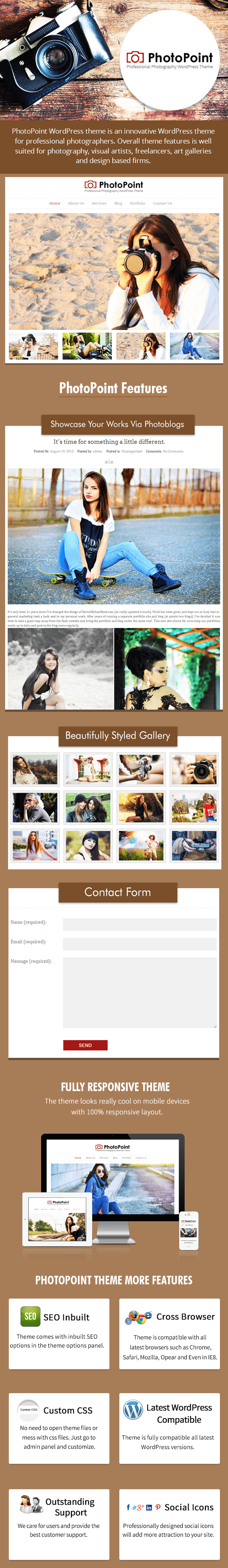 WordPress theme for professional photographer