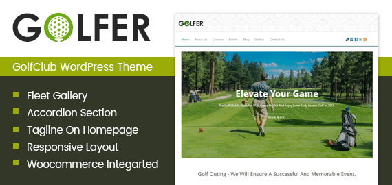 Golfer – GolfClub WordPress Theme