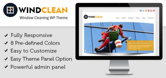 WINDCLEAN - WINDOW CLEANING WORDPRESS THEME