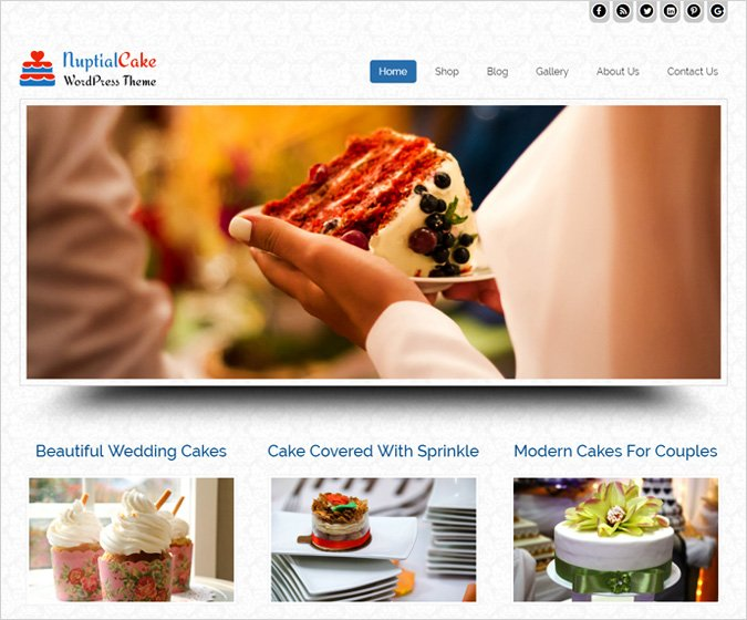 Nuptial Cake WordPress Theme