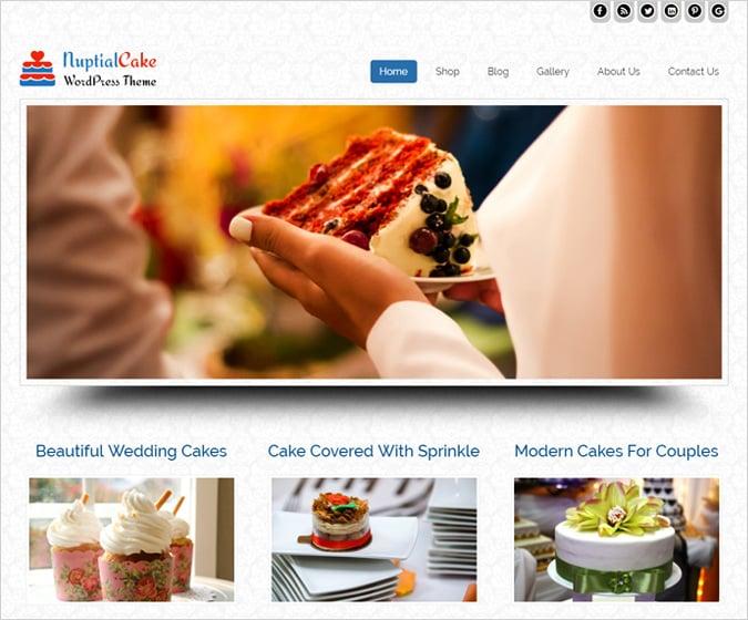 Nuptial Cake WordPress Theme