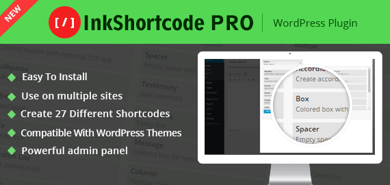 InkShortcode – Ultimate WordPress Shortcode Plugin