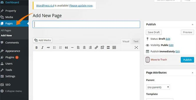 how to create new WordPress website