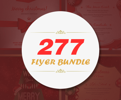 277 Flyer Templates With Editable PSDs for Christmas, New Year