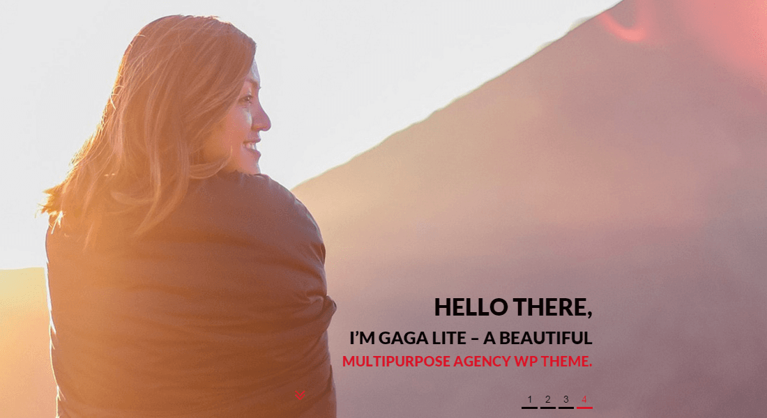 Gaga Lite - Free one page parallax WordPress theme on WordPress.org platform