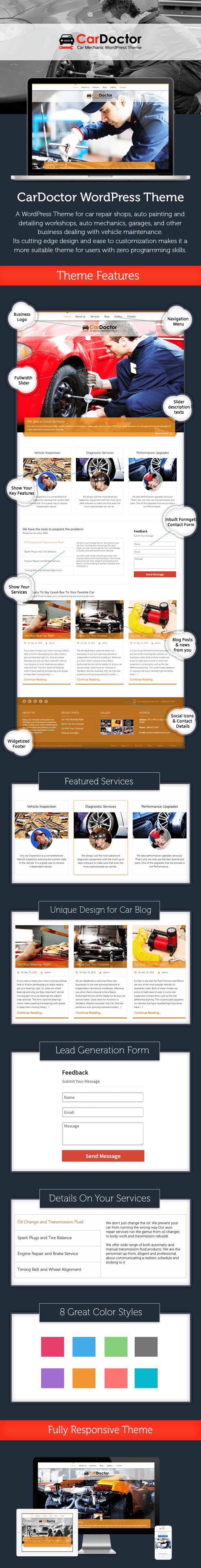 car repair business theme
