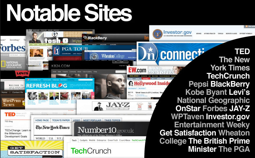 some notable sites built on wordpress