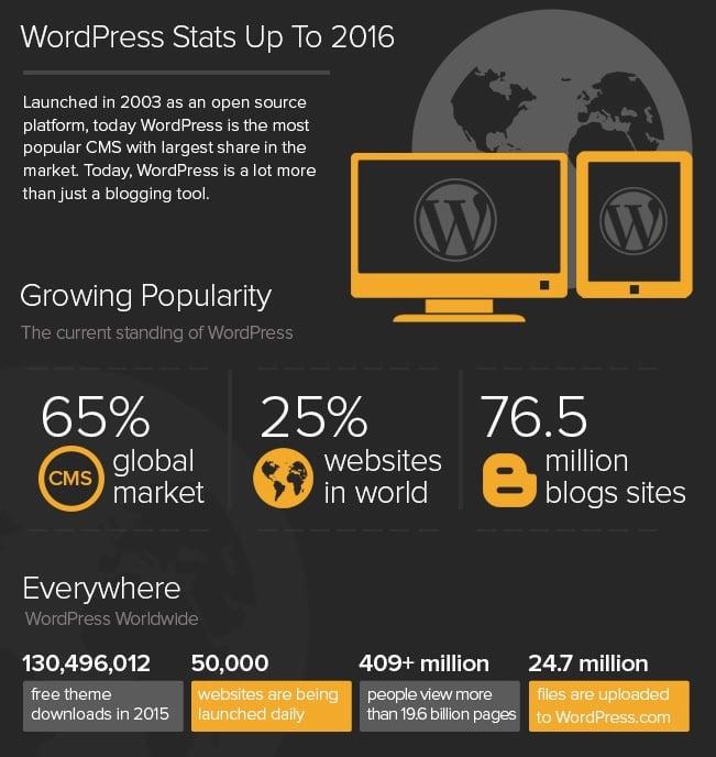 why wordpress - stats 2015 infographics