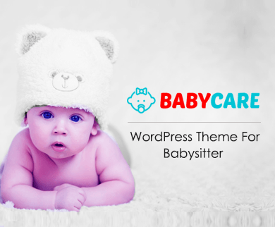 BabyCare - Babysitter WordPress Theme
