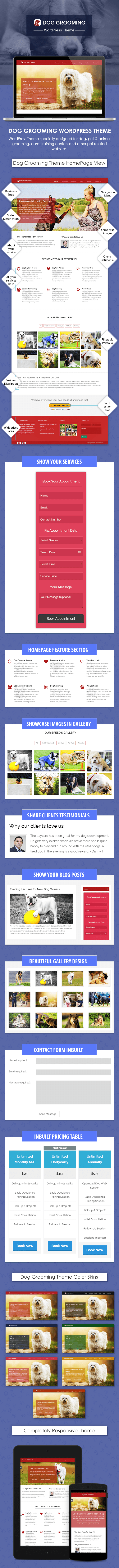 Dog Grooming WordPress Theme