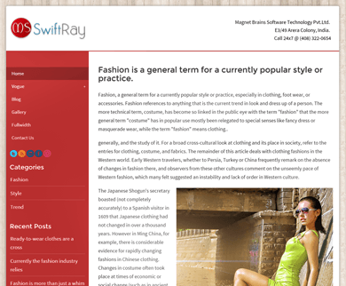 SwiftRay - Fastest Theme for WordPress Websites