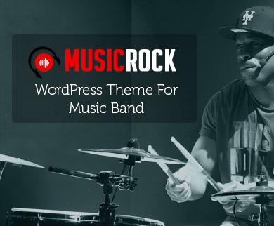 MusicRock - Music Band WordPress Theme