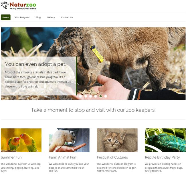nature zoo - animal charity wordpress theme1