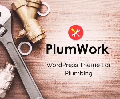 PlumWork - Plumbing WordPress Theme