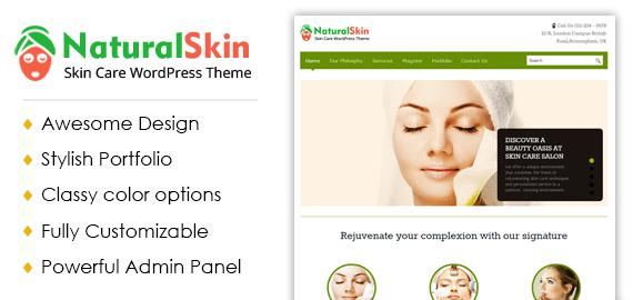 Skin Care WordPress Theme