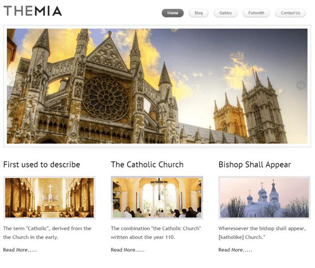 themia - church wordpress theme