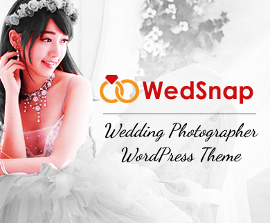 WedSnap - Wedding Photographer WordPress Theme