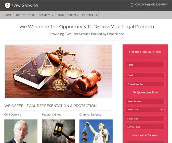 Law Service WordPress Theme