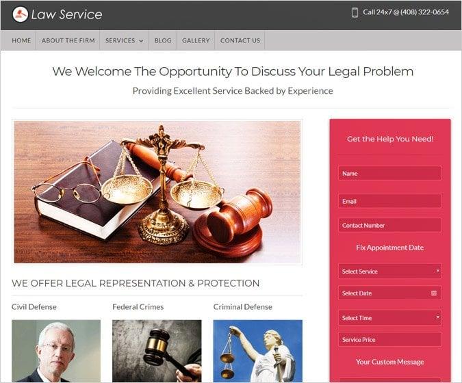 Law Service WordPress Theme
