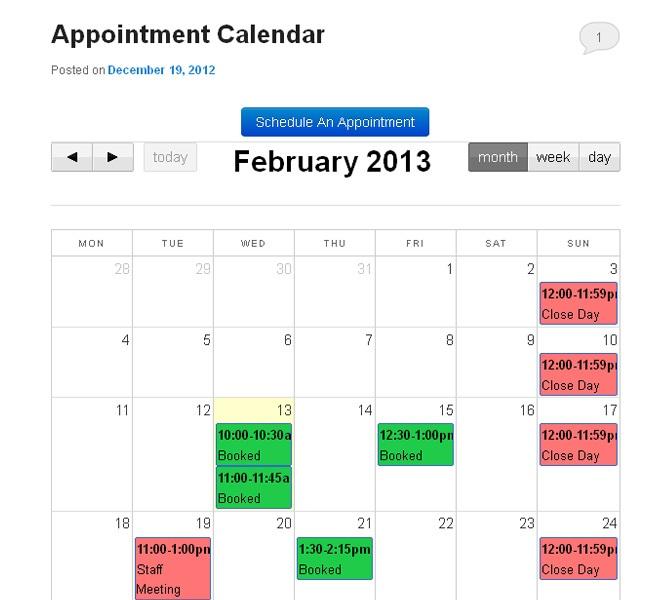 Appointment-Calendar wp plugin