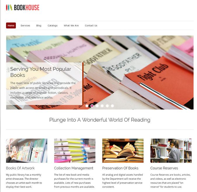Book House WP Theme