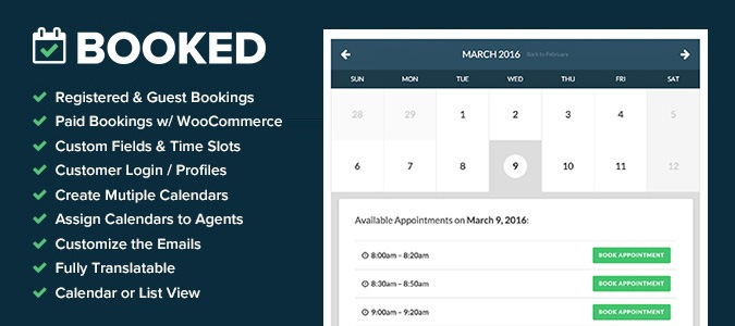 Booked Appointment Plugin