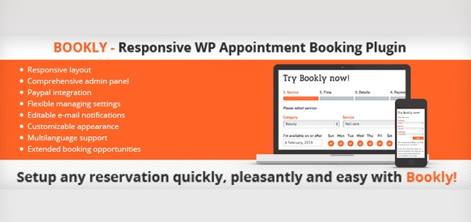 Bookly - responsive appointment booking form