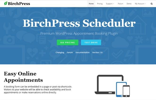 birchpress appointment scheduling wordpress plugin