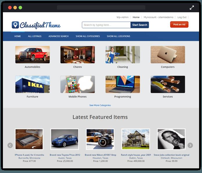 Classfied WordPress Theme
