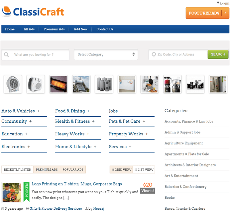 ClassiCraft-directory-wp-themes-InkThemes