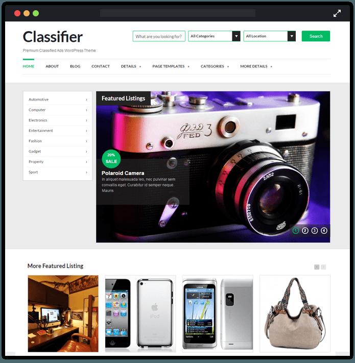 Classifier WordPress Theme