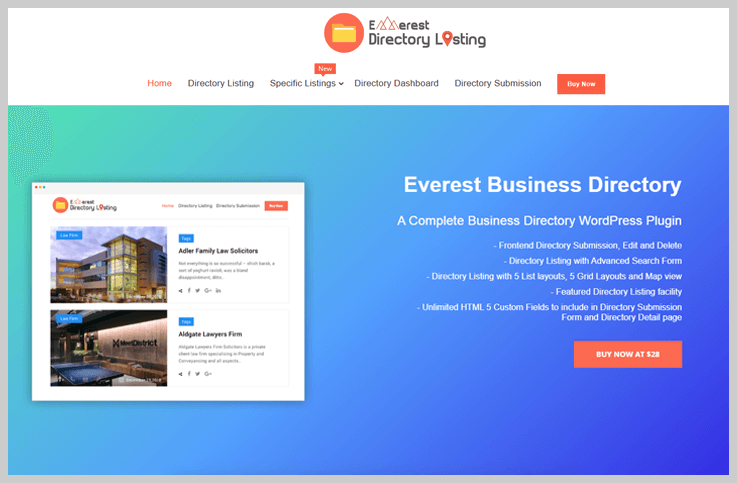 Everest Business Directory - Free And Paid WordPress Directory Plugins