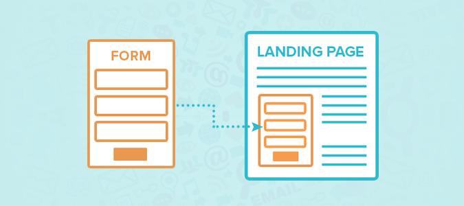 landing page formget form