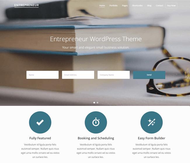 Enterpreneur Appointment Booking Wp Theme