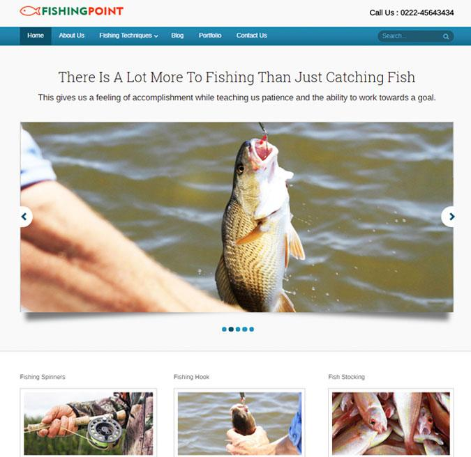 Fishing point wp theme